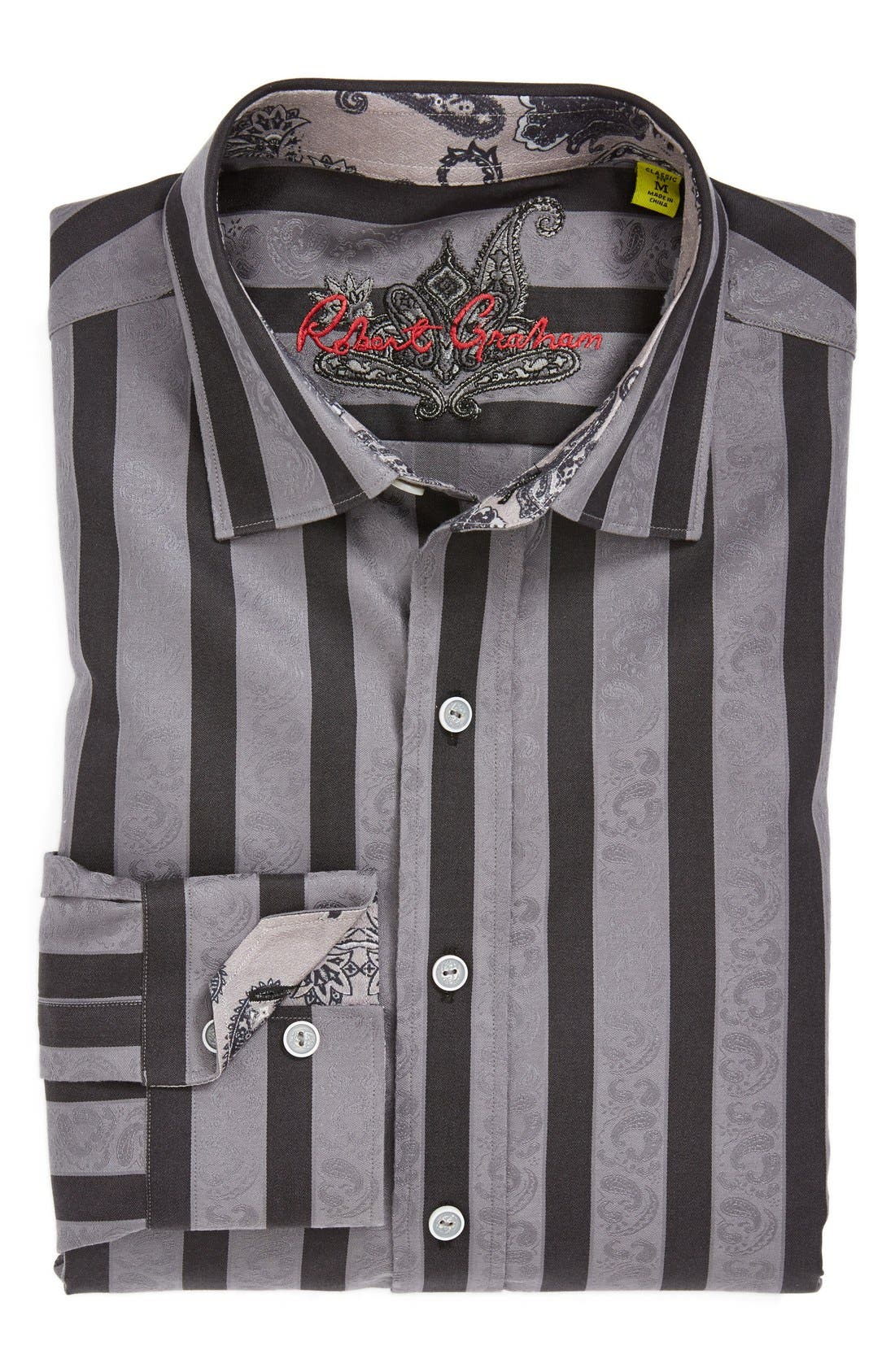 Alternate Image 4  - Robert Graham 'Shawn' Classic Fit Paisley Jacquard Sport Shirt