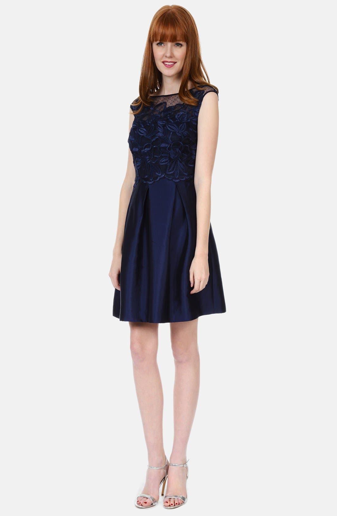 Alternate Image 3  - Kay Unger Lace Bodice Dress