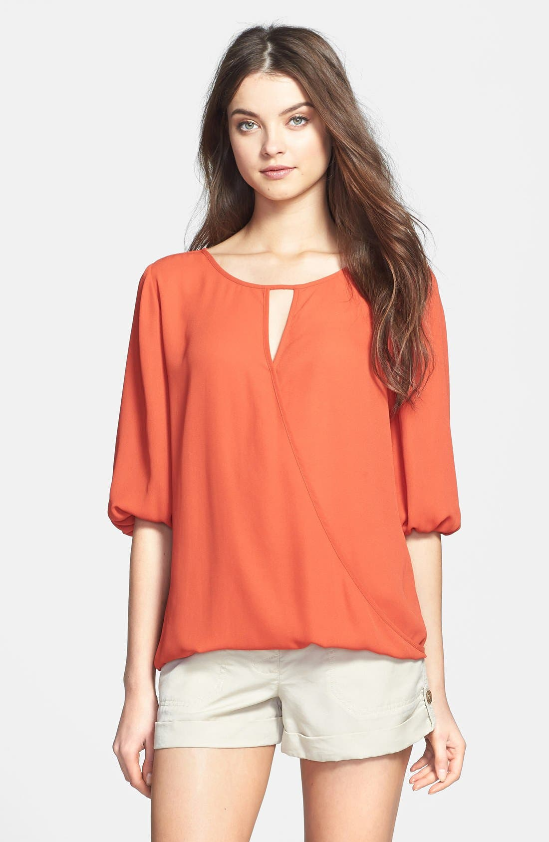 Alternate Image 1 Selected - Two by Vince Camuto Faux Wrap Front Blouse