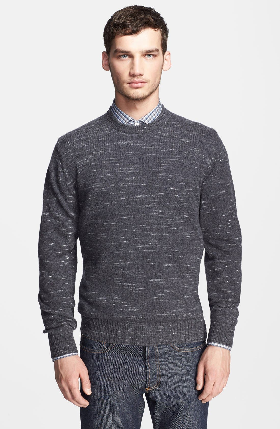 Alternate Image 1 Selected - Billy Reid 'Jaspe' Marled Merino Wool Crewneck Sweater