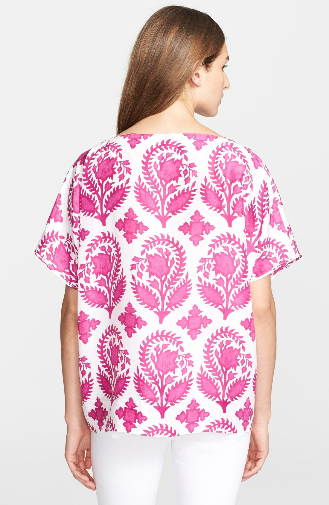 Alternate Image 2  - Diane von Furstenberg 'New Hanky' Print Silk Top