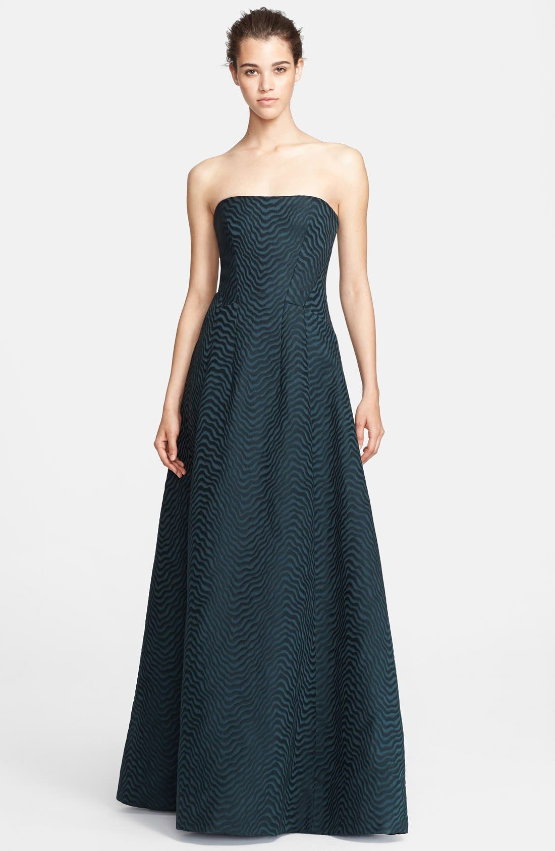 Alternate Image 1 Selected - Jason Wu Jacquard Strapless A-Line Gown