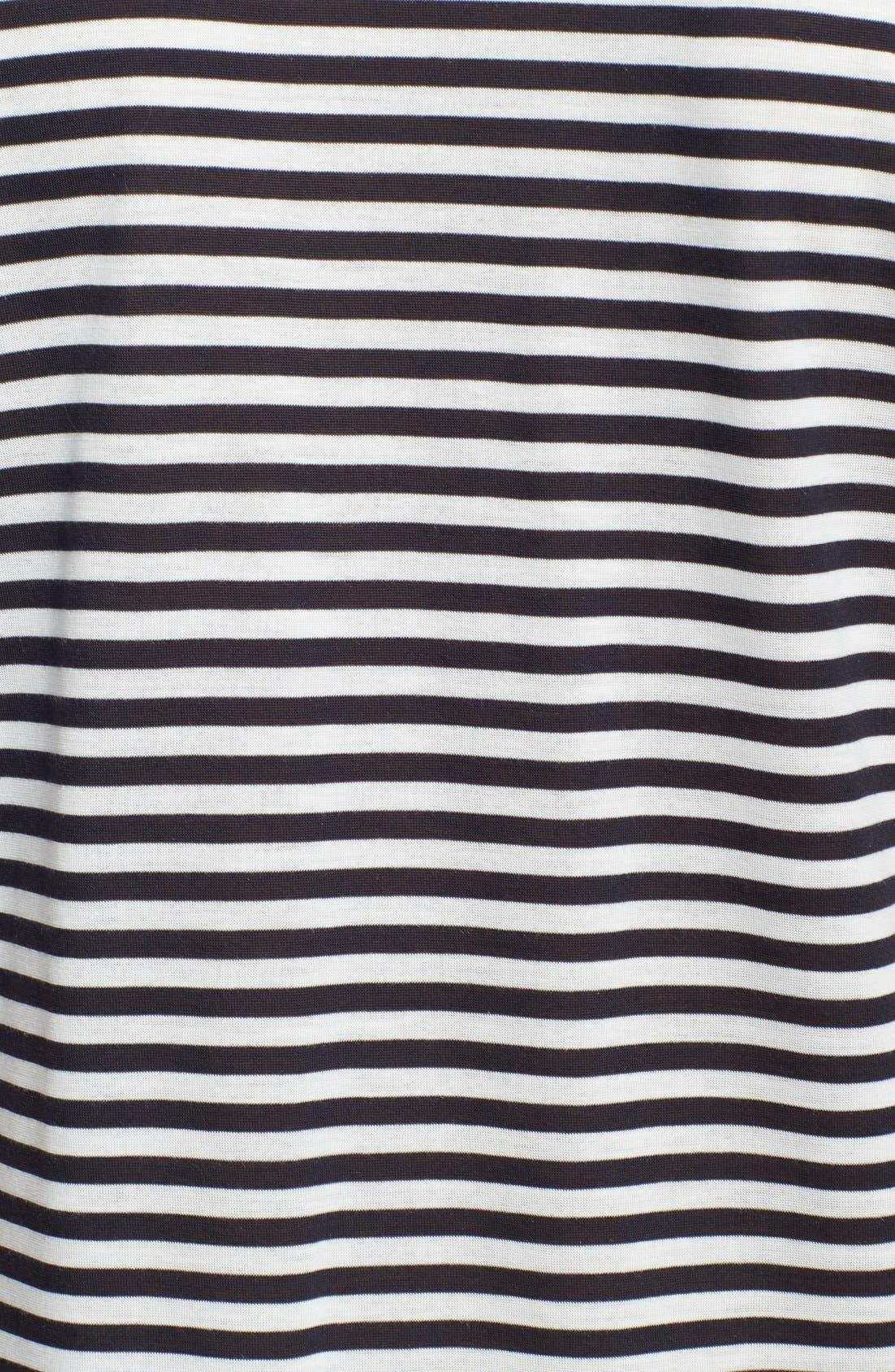 Alternate Image 3  - Haute Hippie Mixed Stripe Jersey Gown
