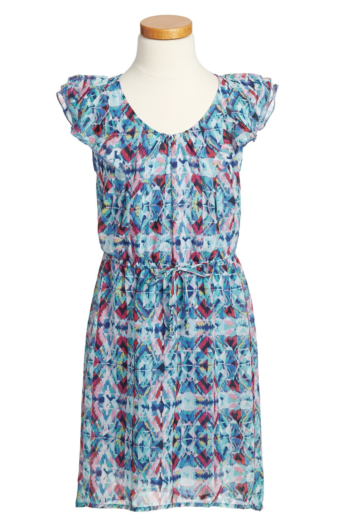 Alternate Image 1 Selected - Fishbowl Sleeveless High/Low Dress (Big Girls)