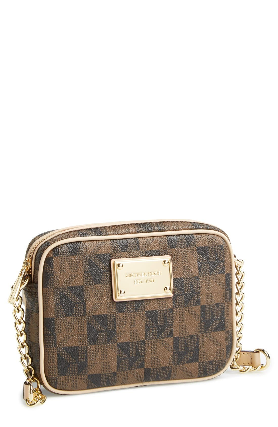 Alternate Image 1 Selected - MICHAEL Michael Kors 'Small Jet Set Signature' Crossbody