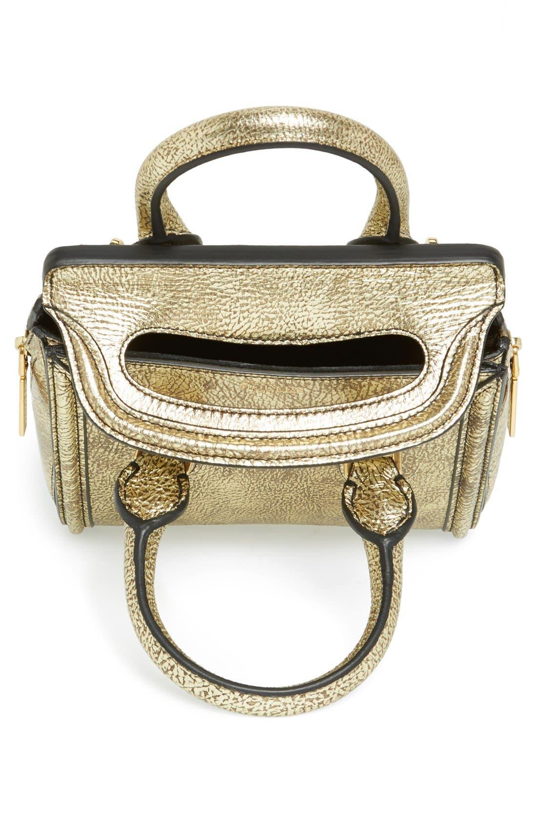 Alternate Image 3  - Alexander McQueen 'Mini Heroine' Metallic Lambskin Leather Crossbody Bag
