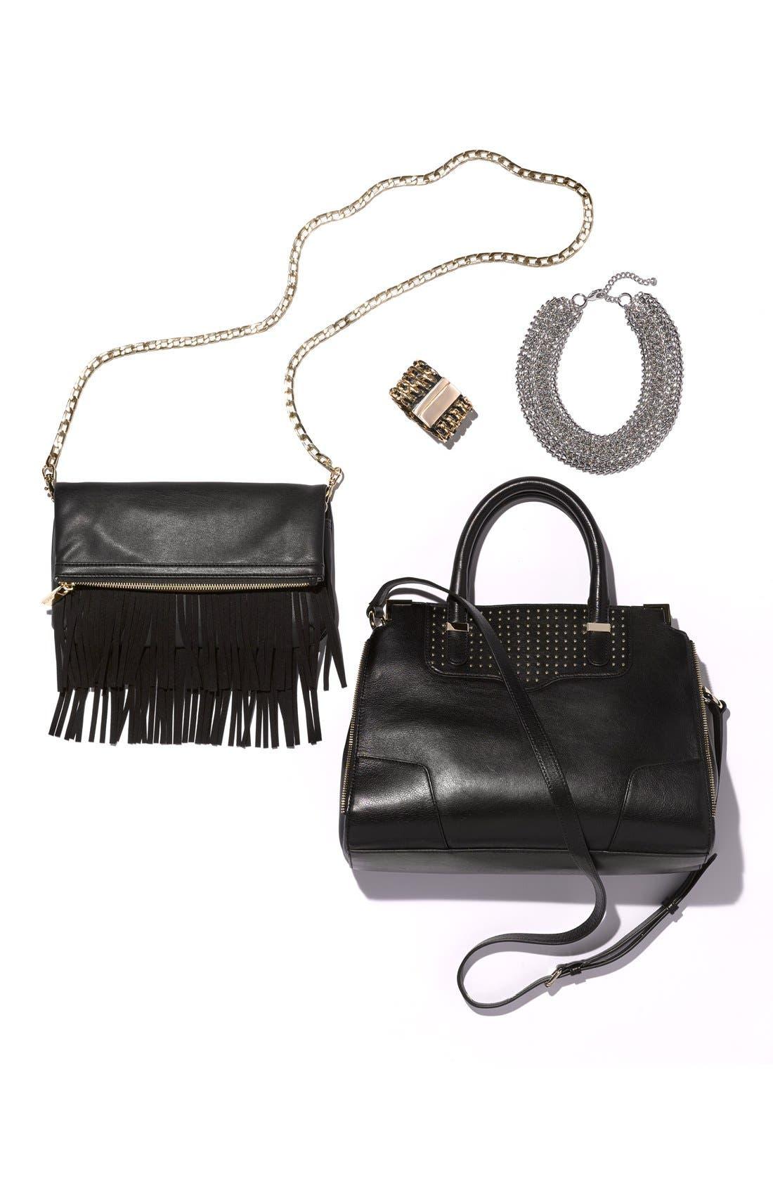 Alternate Image 4  - Cara Leather & Link Bracelet