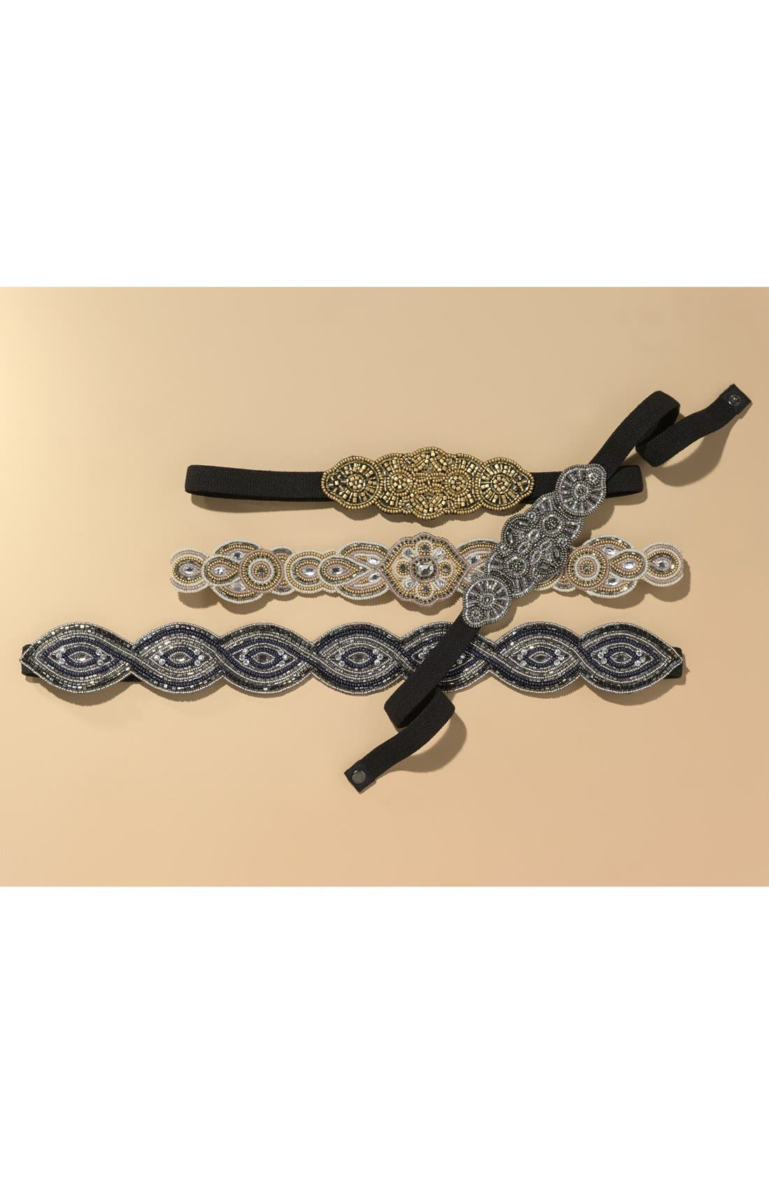 Alternate Image 2  - Glint 'Medallion' Beaded Stretch Belt