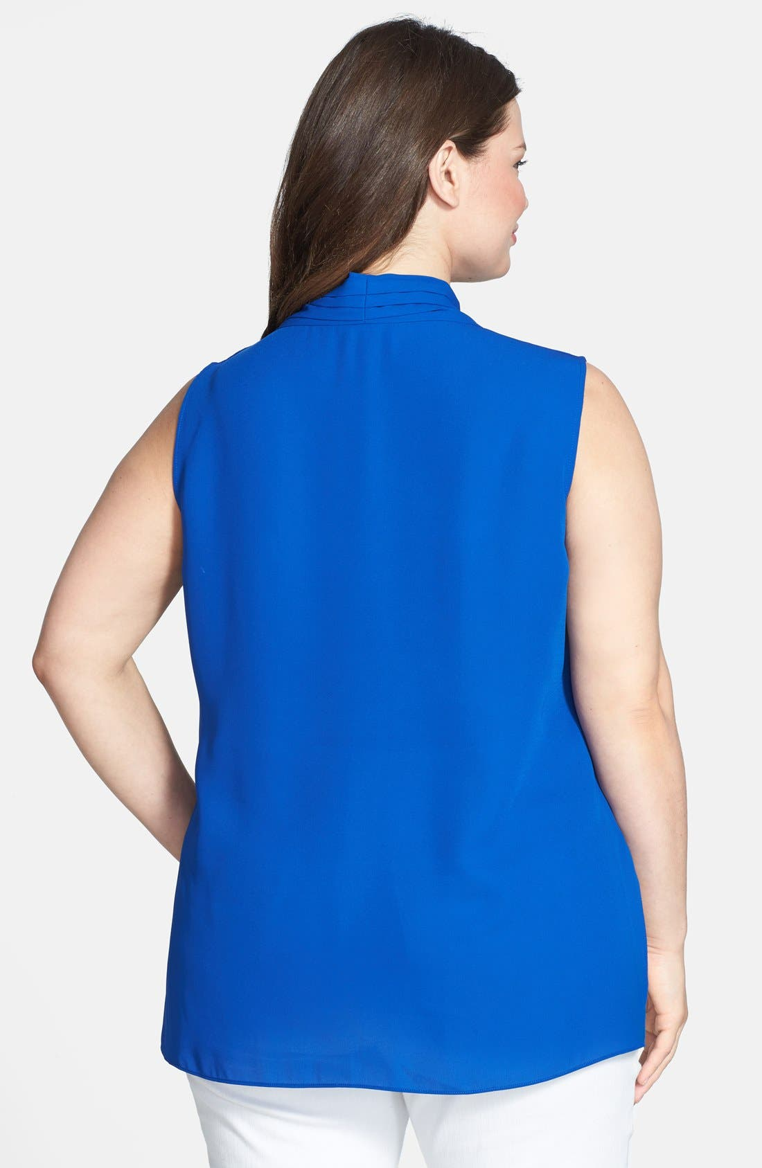 Alternate Image 2  - Vince Camuto Sleeveless Wrap Front Shirttail Blouse (Plus Size)