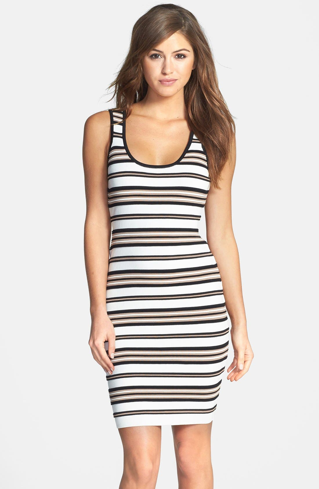Main Image - Felicity & Coco Stripe Rib Knit Body-Con Dress (Nordstrom Exclusive)