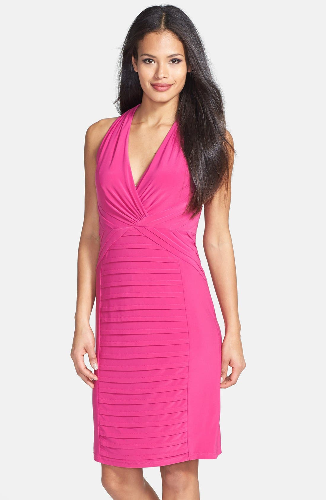 Alternate Image 1 Selected - Adrianna Papell Banded Jersey Sheath Dress