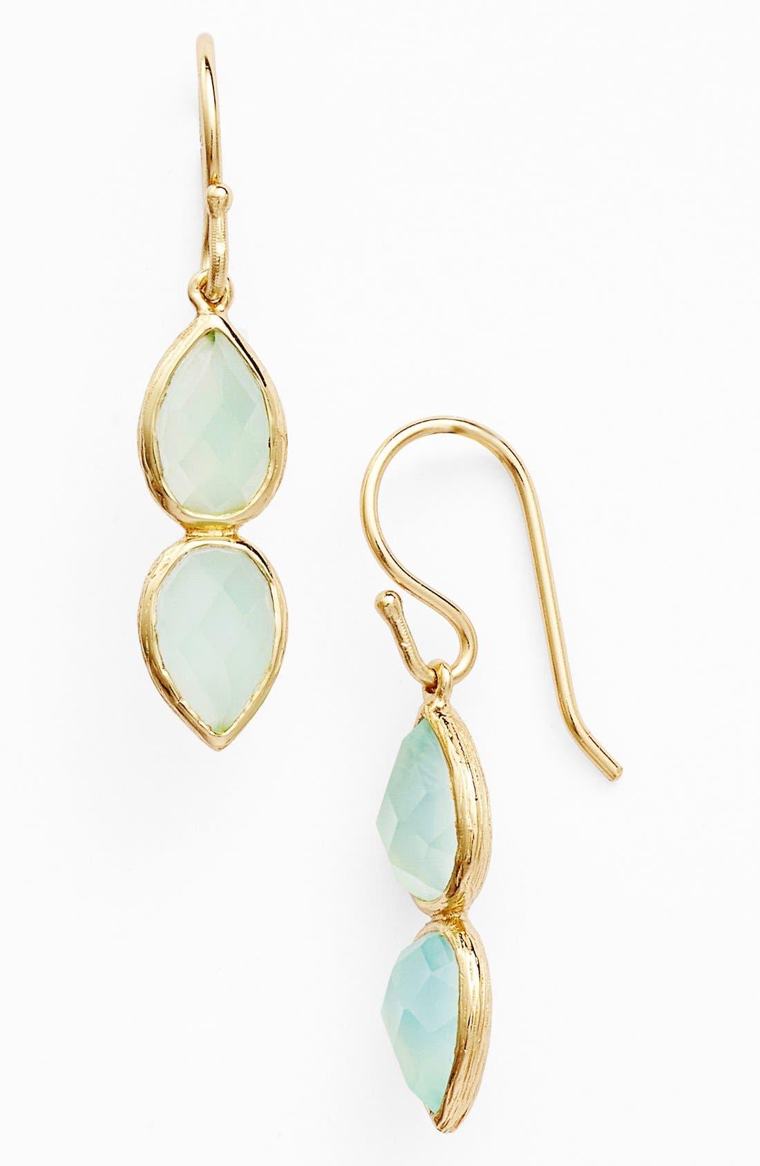 Alternate Image 1 Selected - Melinda Maria 'June - Leaf' Drop Earrings