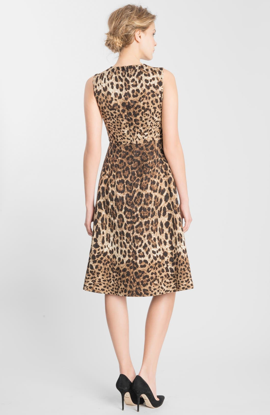 Alternate Image 2  - Dolce&Gabbana Leopard Print Fit & Flare Dress