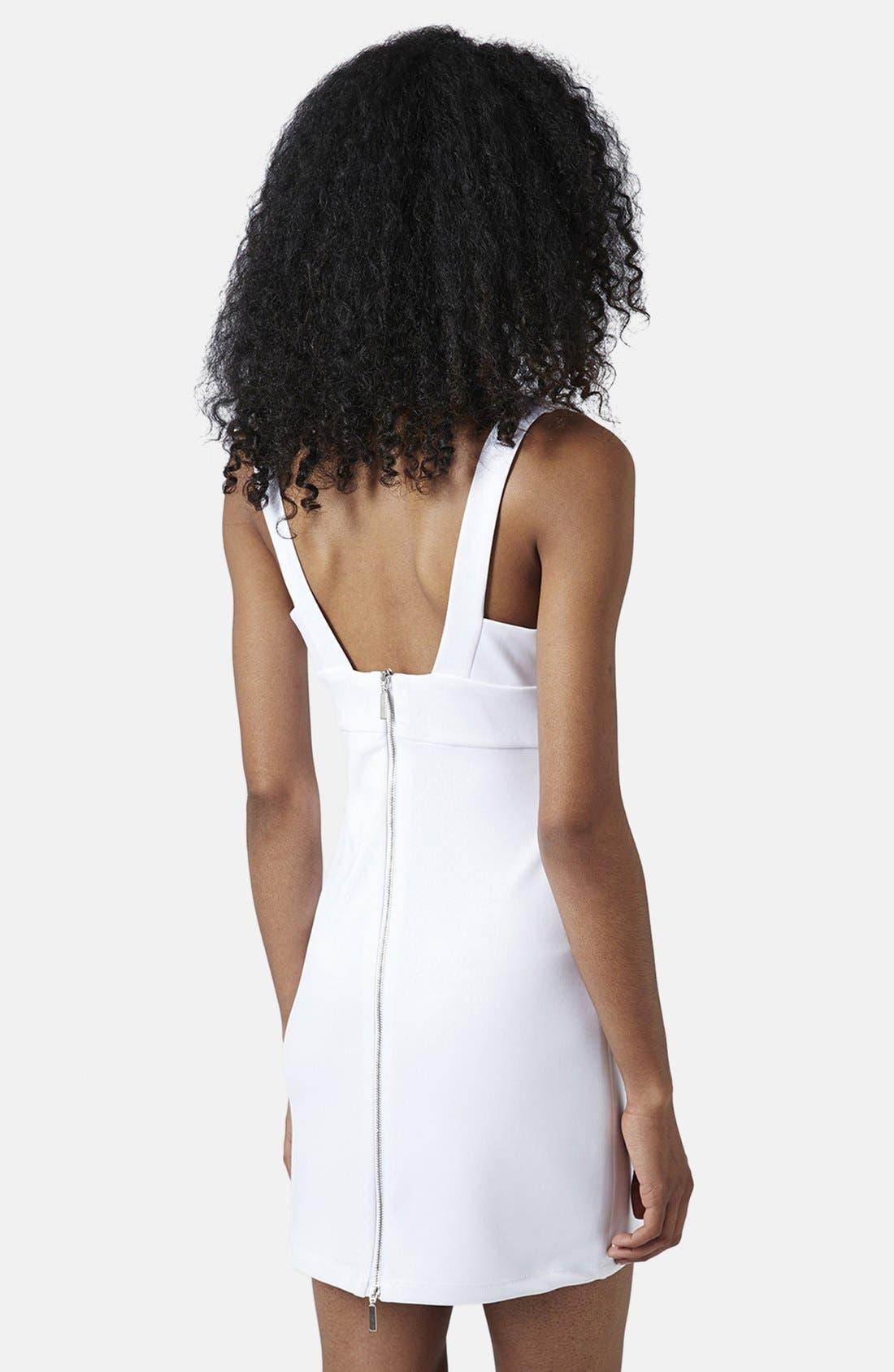 Alternate Image 2  - Topshop Cutout Body-Con Dress (Regular & Petite)