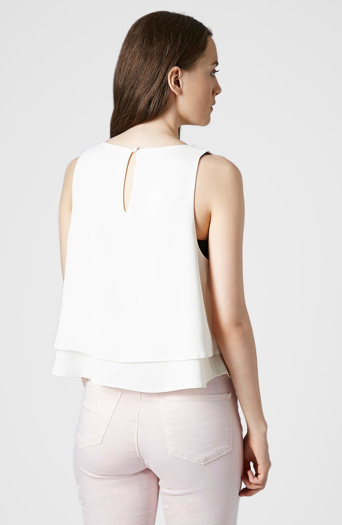 Alternate Image 2  - Topshop Double Hem Crop Tank