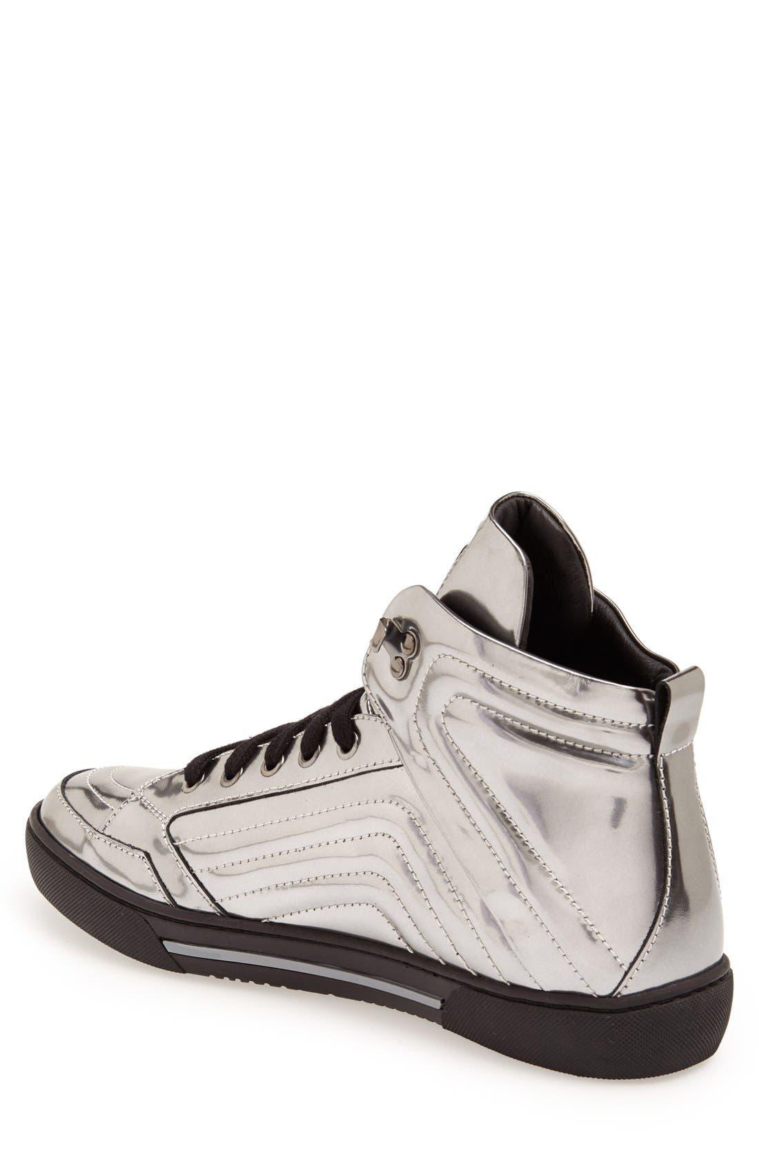 Alternate Image 2  - Versace Collection High Top Sneaker (Men)