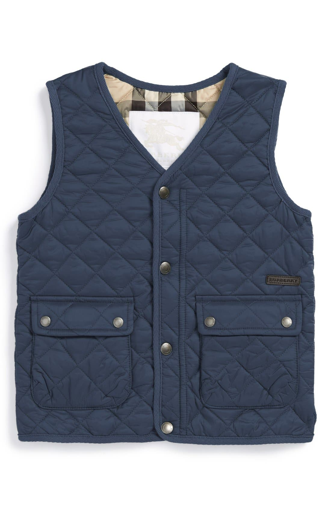 Main Image - Burberry 'Will' Quilted Vest (Toddler Boys)