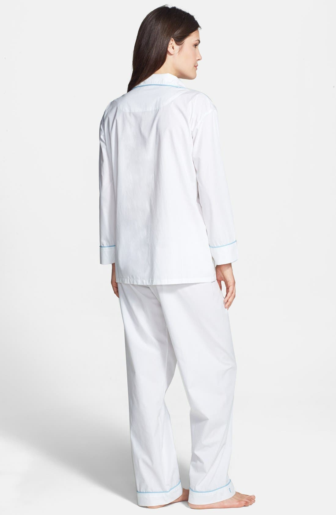 Alternate Image 2  - Marigot 'Classic' Cotton Poplin Pajamas