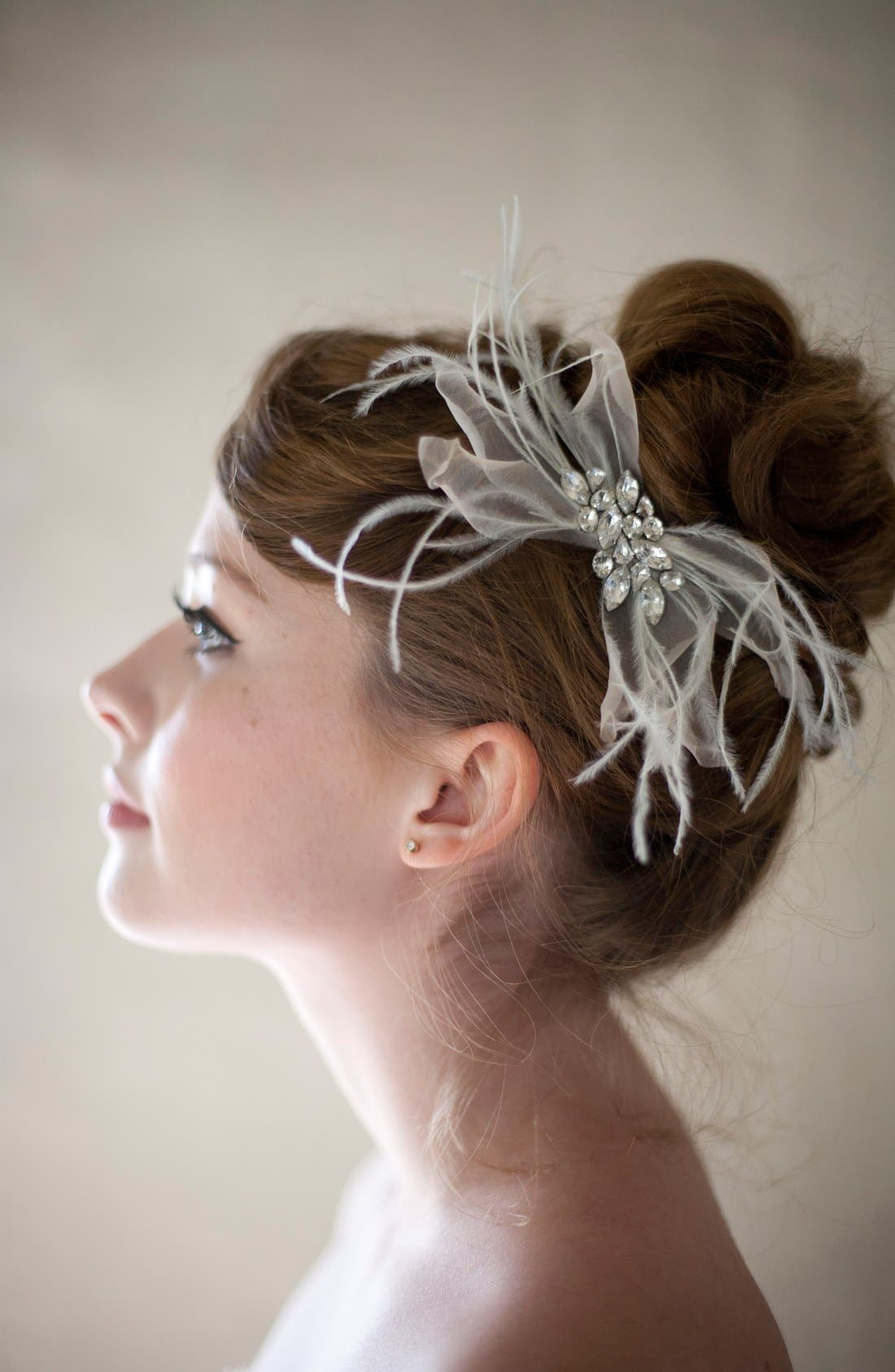 Alternate Image 3  - Serephine 'Quinn' Silk & Feather Hair Clip