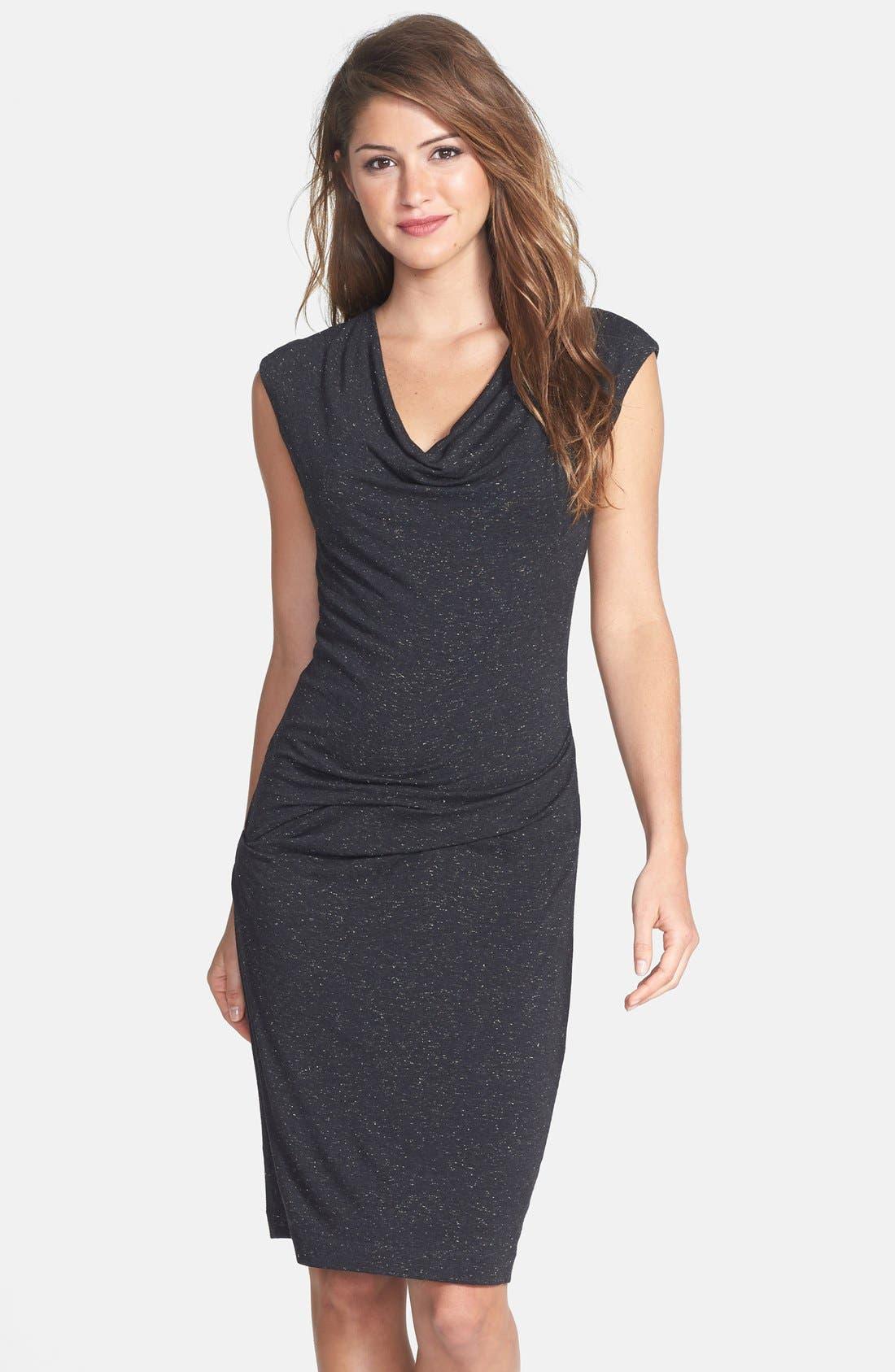 Alternate Image 1 Selected - Nicole Miller Speckled Metallic Jersey Dress