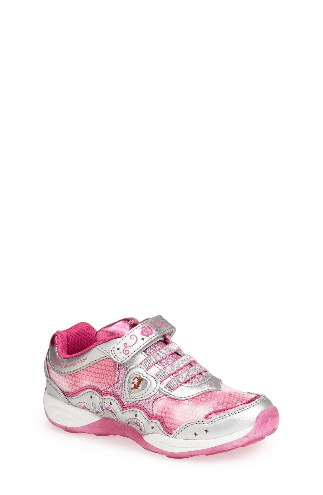Alternate Image 1 Selected - Stride Rite 'Disney Wish Lights - Belle' Light-Up Sneaker (Walker, Toddler & Little Kid)