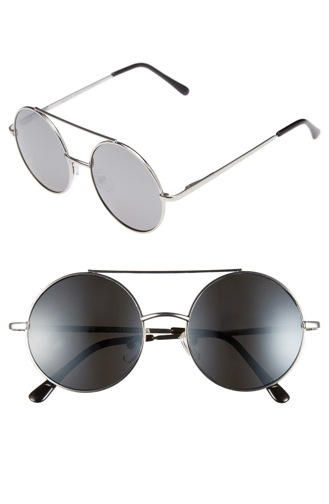 Alternate Image 1 Selected - Topman Round Sunglasses