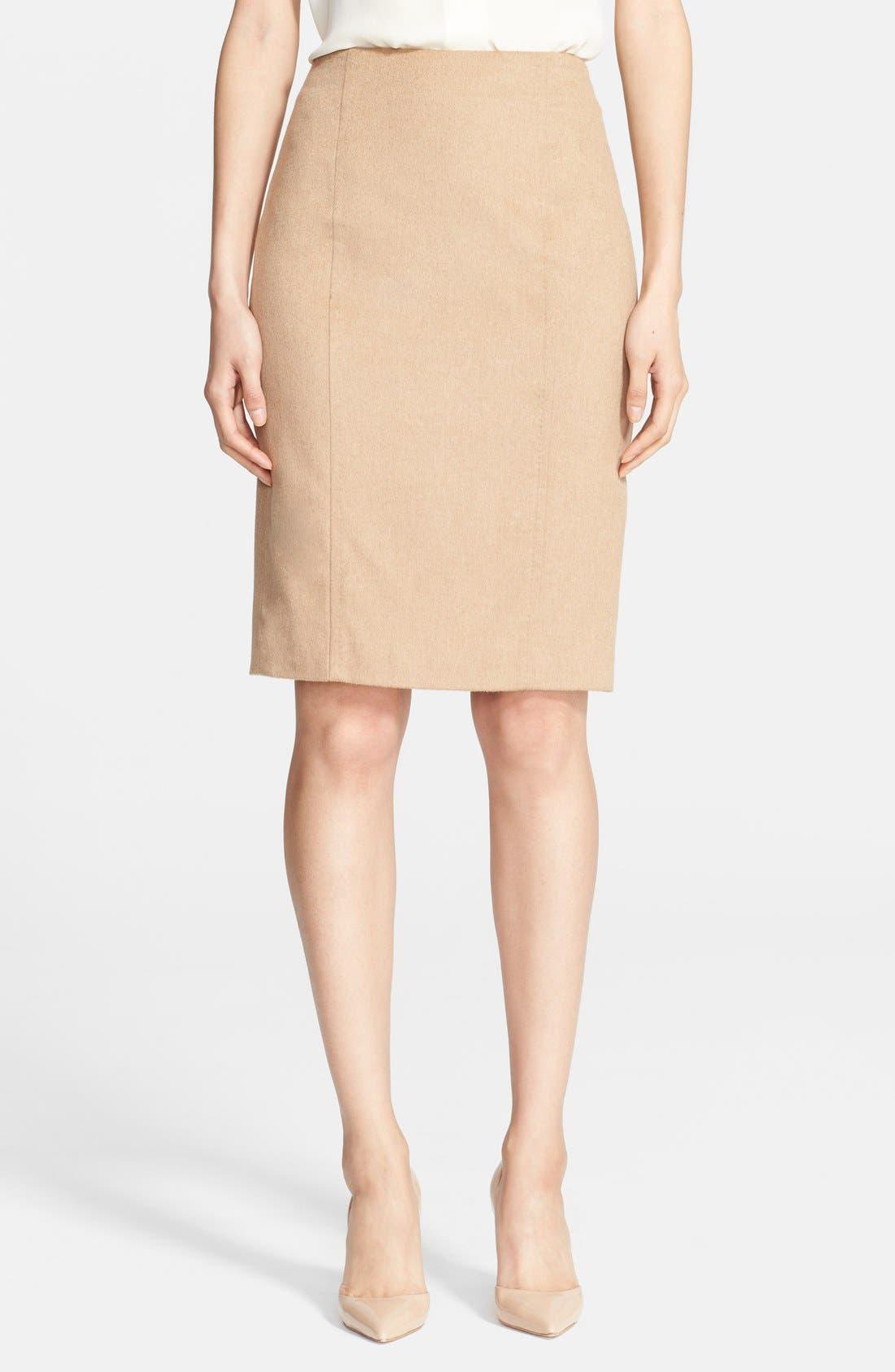 Alternate Image 1 Selected - Max Mara 'Sargano' Camel Hair Pencil Skirt
