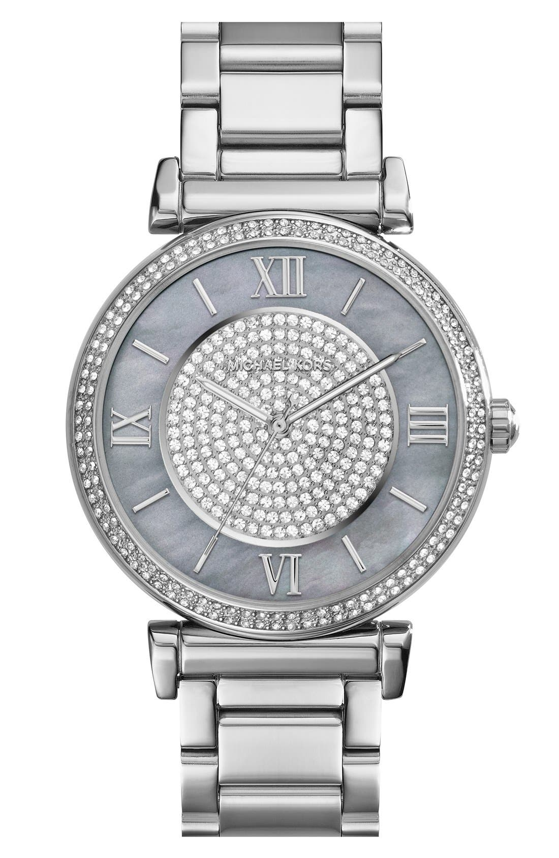 Main Image - Michael Kors 'Caitlin' Crystal Dial Bracelet Watch, 38mm