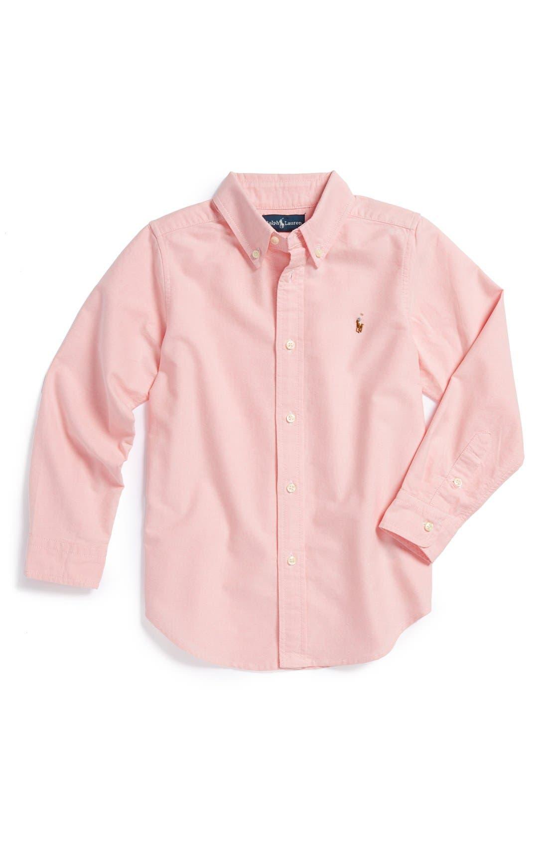 Alternate Image 1 Selected - Ralph Lauren Oxford Sport Shirt (Big Boys)