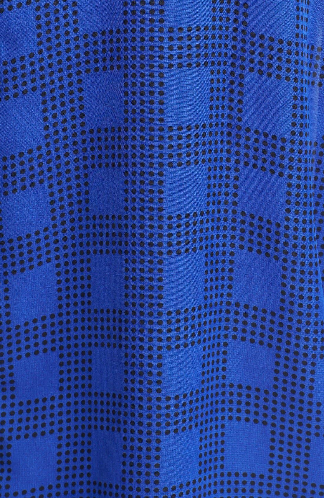 Alternate Image 3  - Bobeau Tie Hem Print Peasant Top