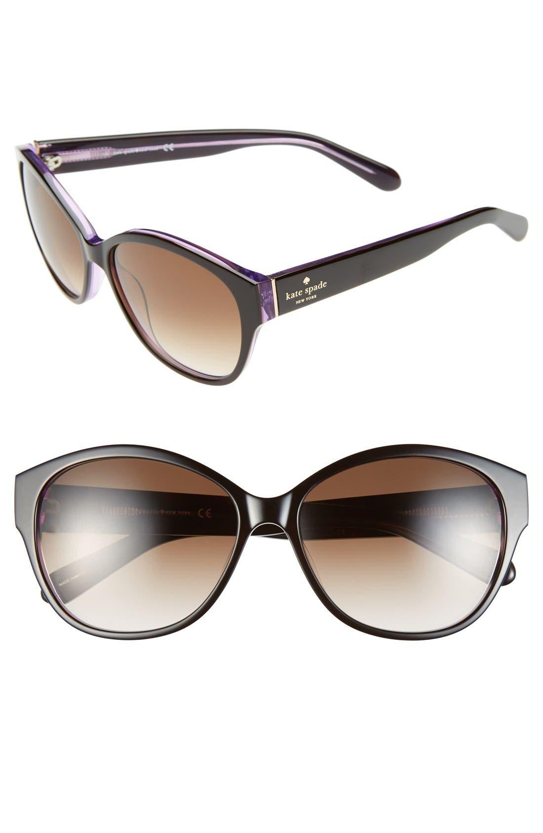 Alternate Image 1 Selected - kate spade new york 56mm sunglasses