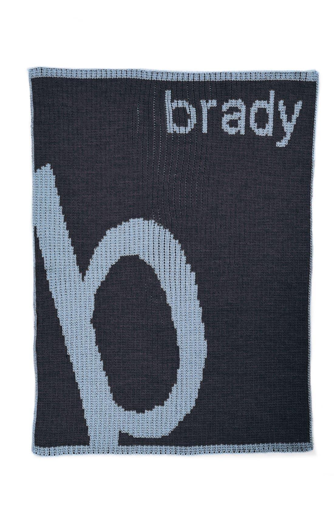 Main Image - Butterscotch Blankees 'Slanted Letter' Personalized Stroller Blanket