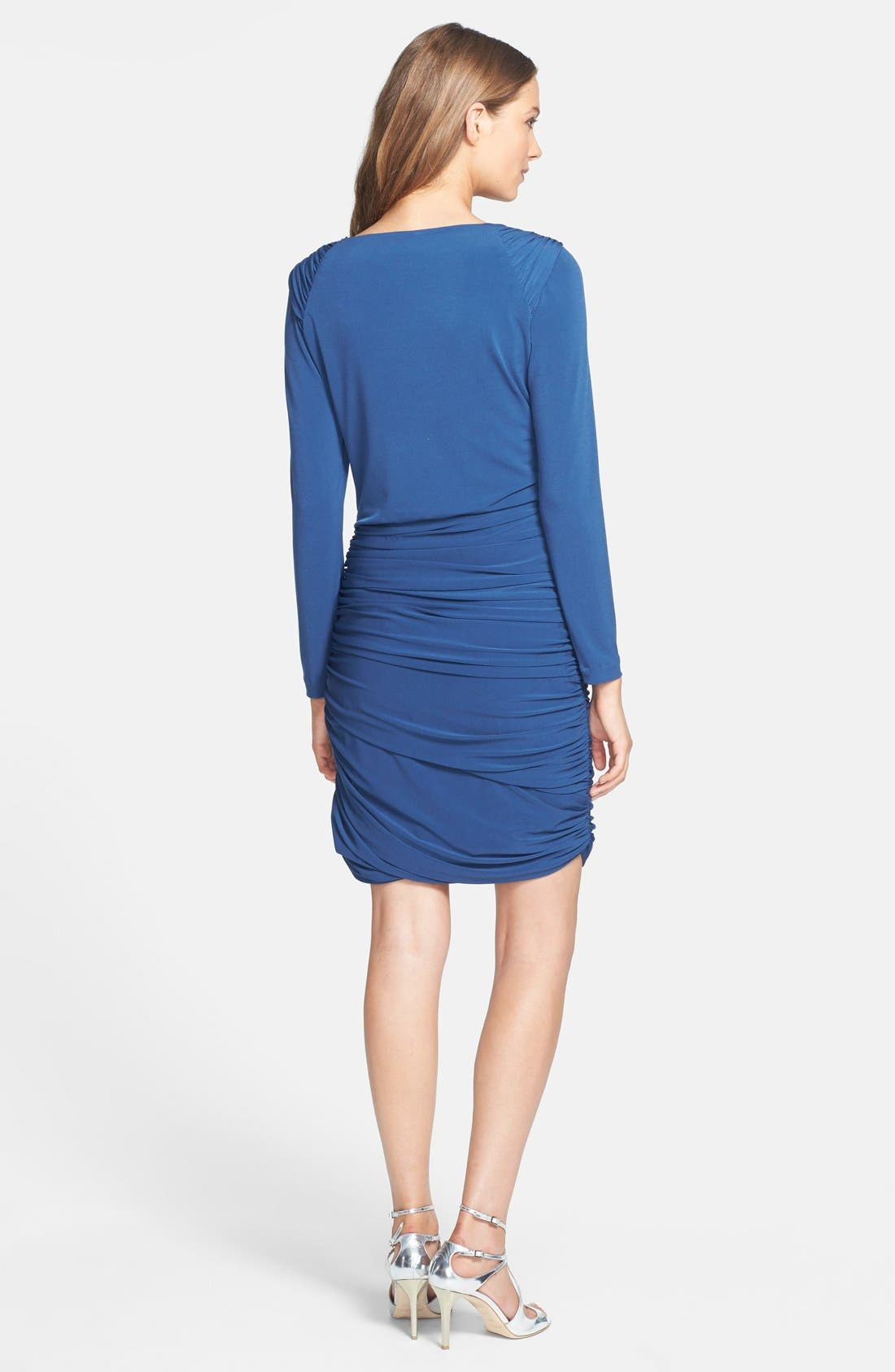 Alternate Image 2  - Ivy & Blu Ruched Jersey Blouson Dress