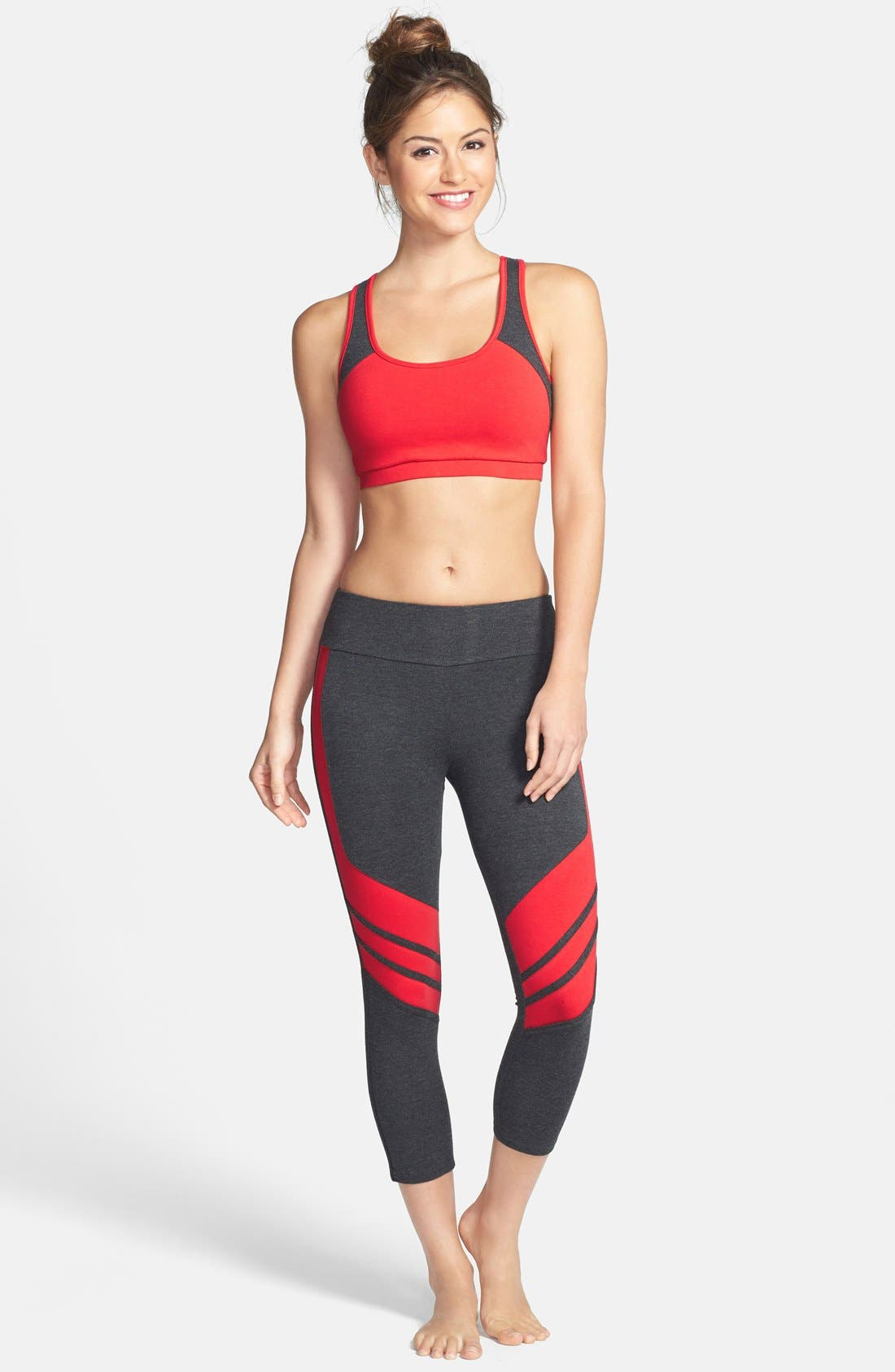 Alternate Image 3  - Solow Colorblock Crop Leggings