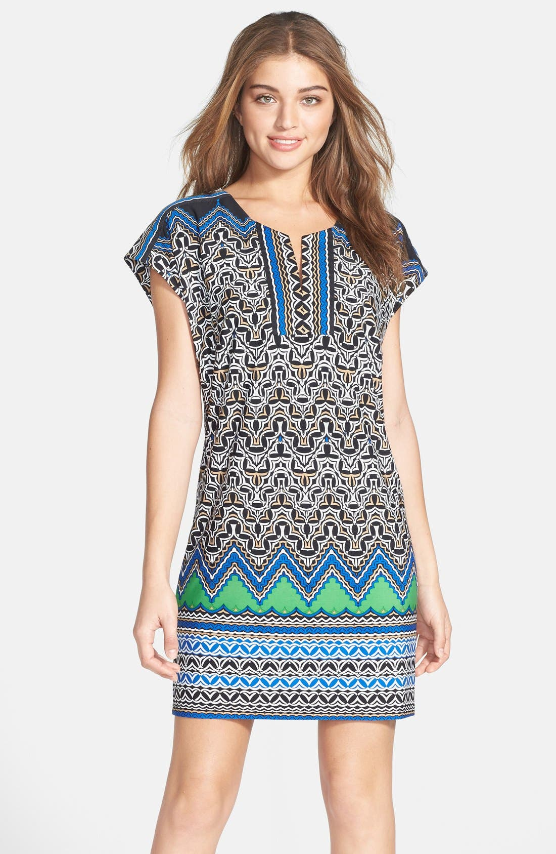 Main Image - Laundry by Shelli Segal Print Jersey Shift Dress