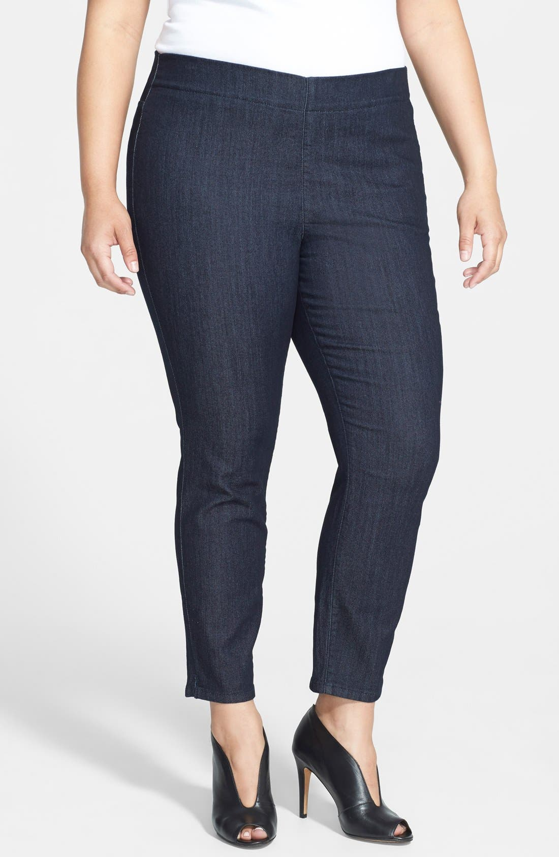 Alternate Image 1 Selected - NYDJ 'Millie' Stretch Ankle Jeans (Dark Enzyme) (Plus Size)