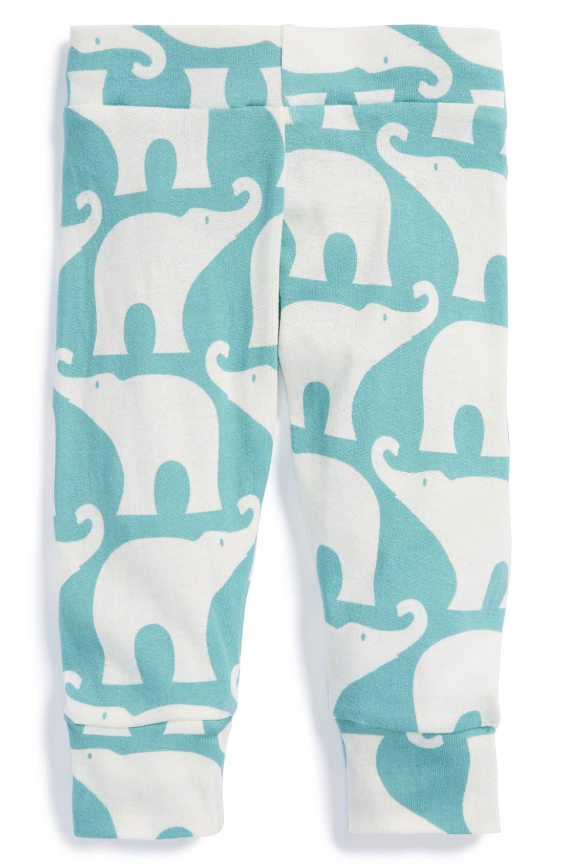 Main Image - Zebi Baby 'Elephant' Organic Cotton Leggings (Baby)