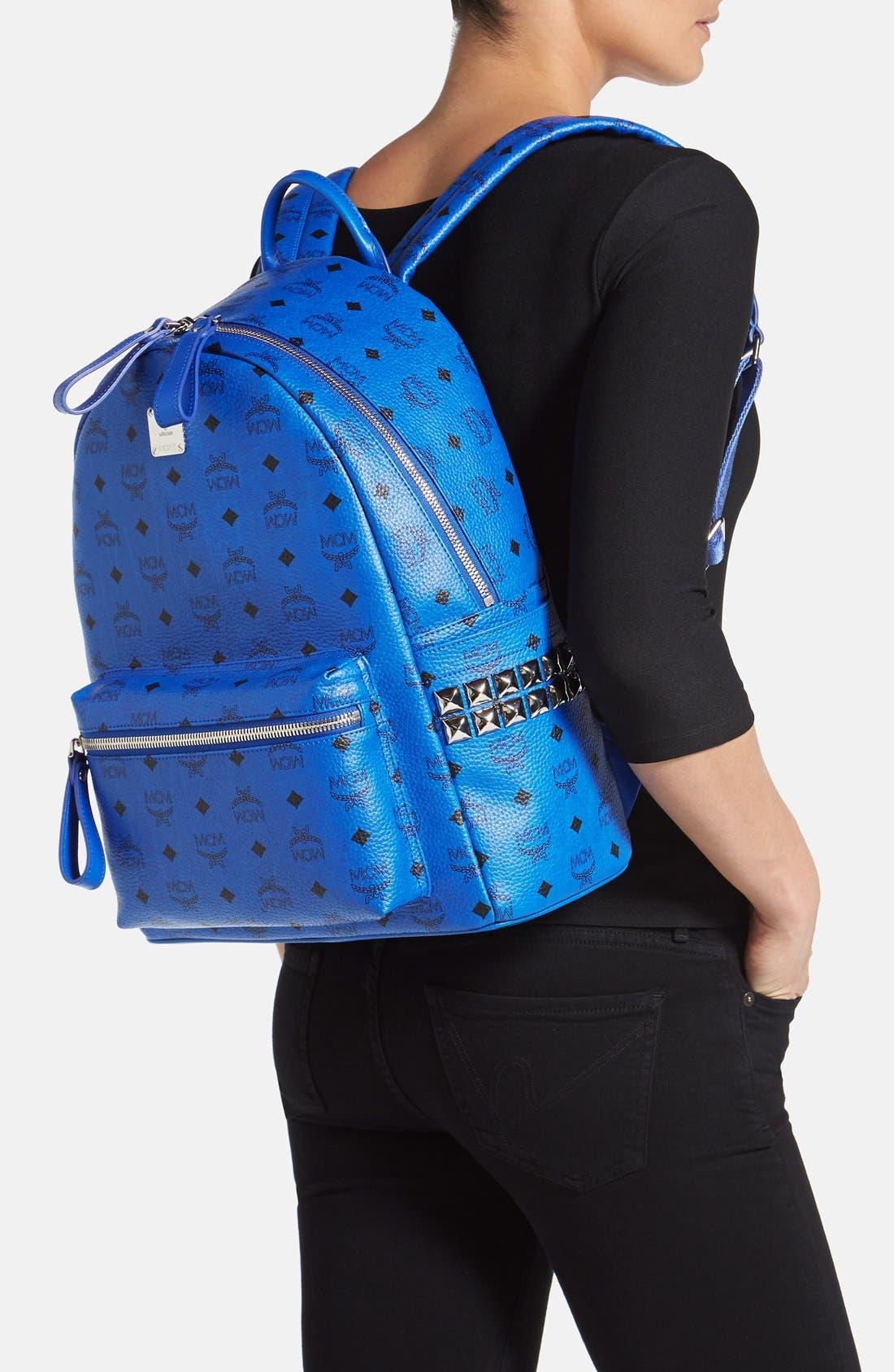 Alternate Image 2  - MCM 'Medium Visetos' Coated Canvas Backpack