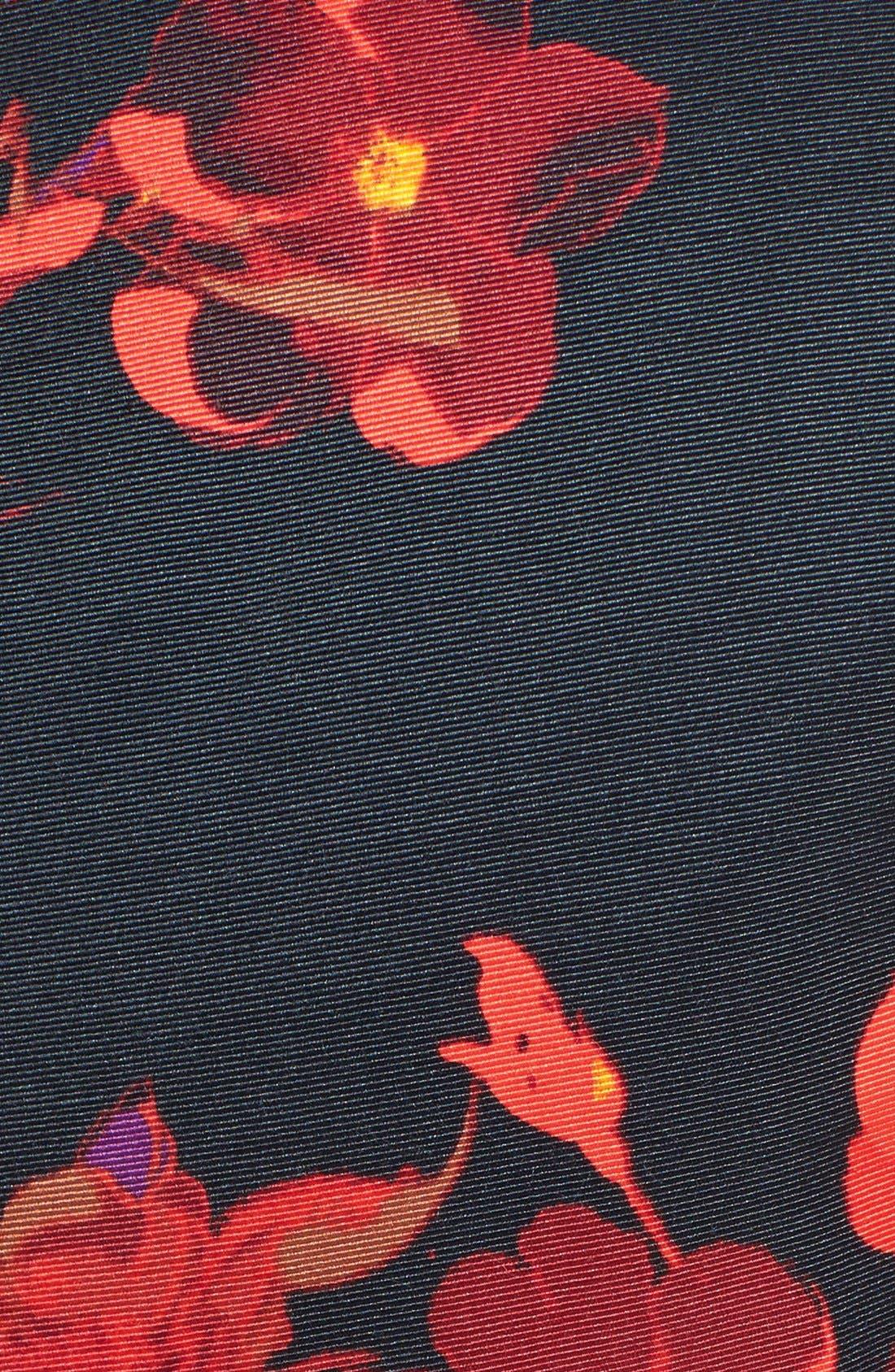 Alternate Image 4  - Taylor Dresses Floral Print Fit & Flare Dress (Regular & Petite)