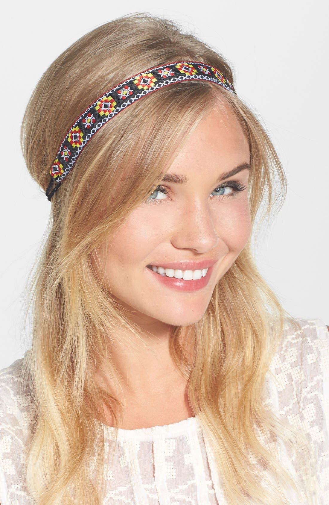 Alternate Image 1 Selected - Berry 'Dancing Floral' Head Wrap