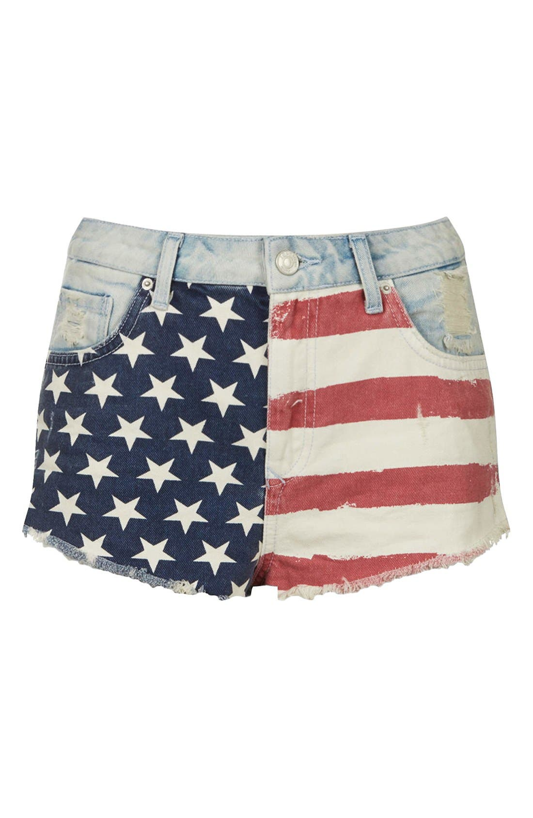 Alternate Image 3  - Topshop Flag Front Shorts