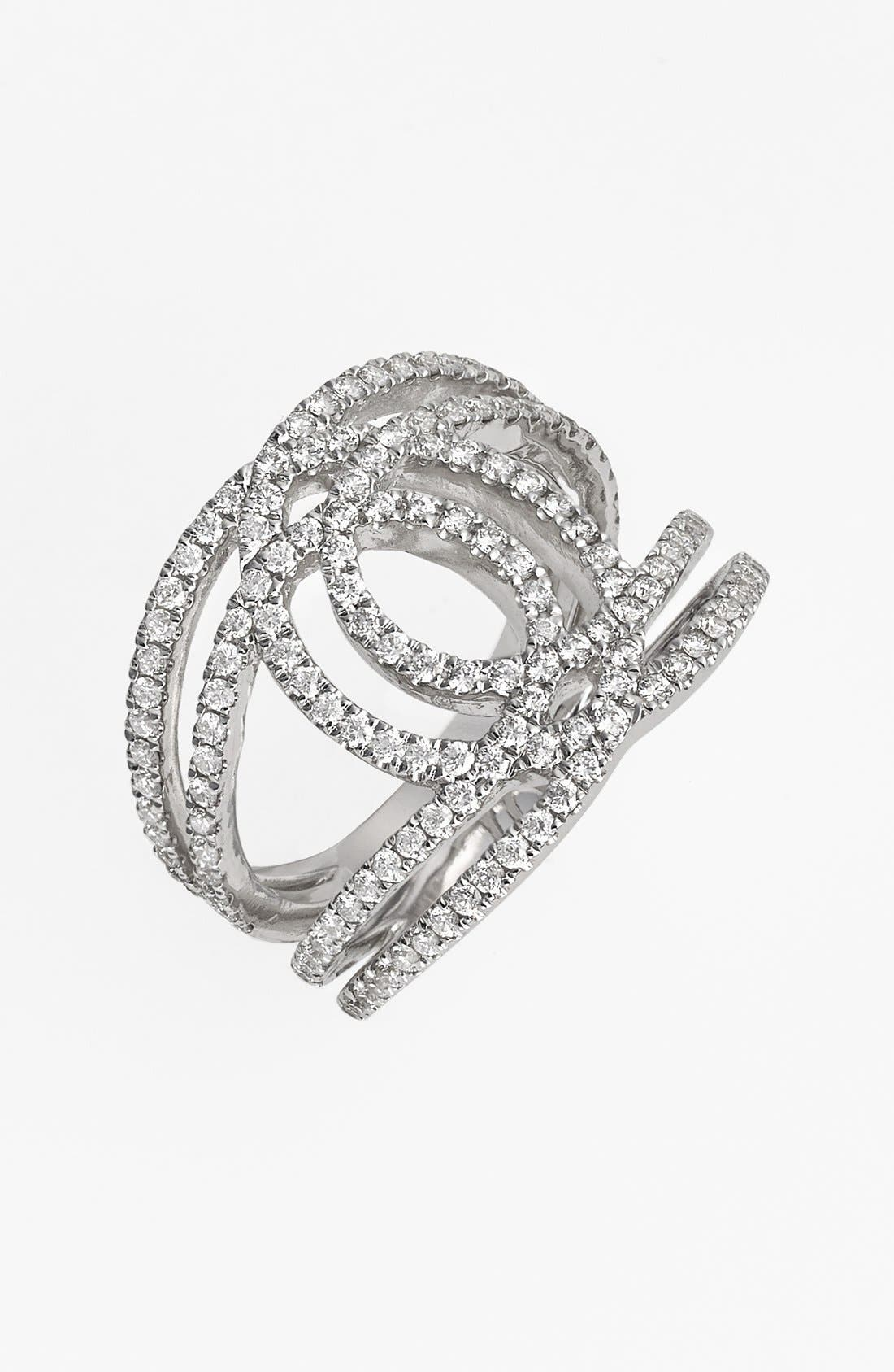 Main Image - Bony Levy 'Double Interlock' Diamond Cocktail Ring (Nordstrom Exclusive)