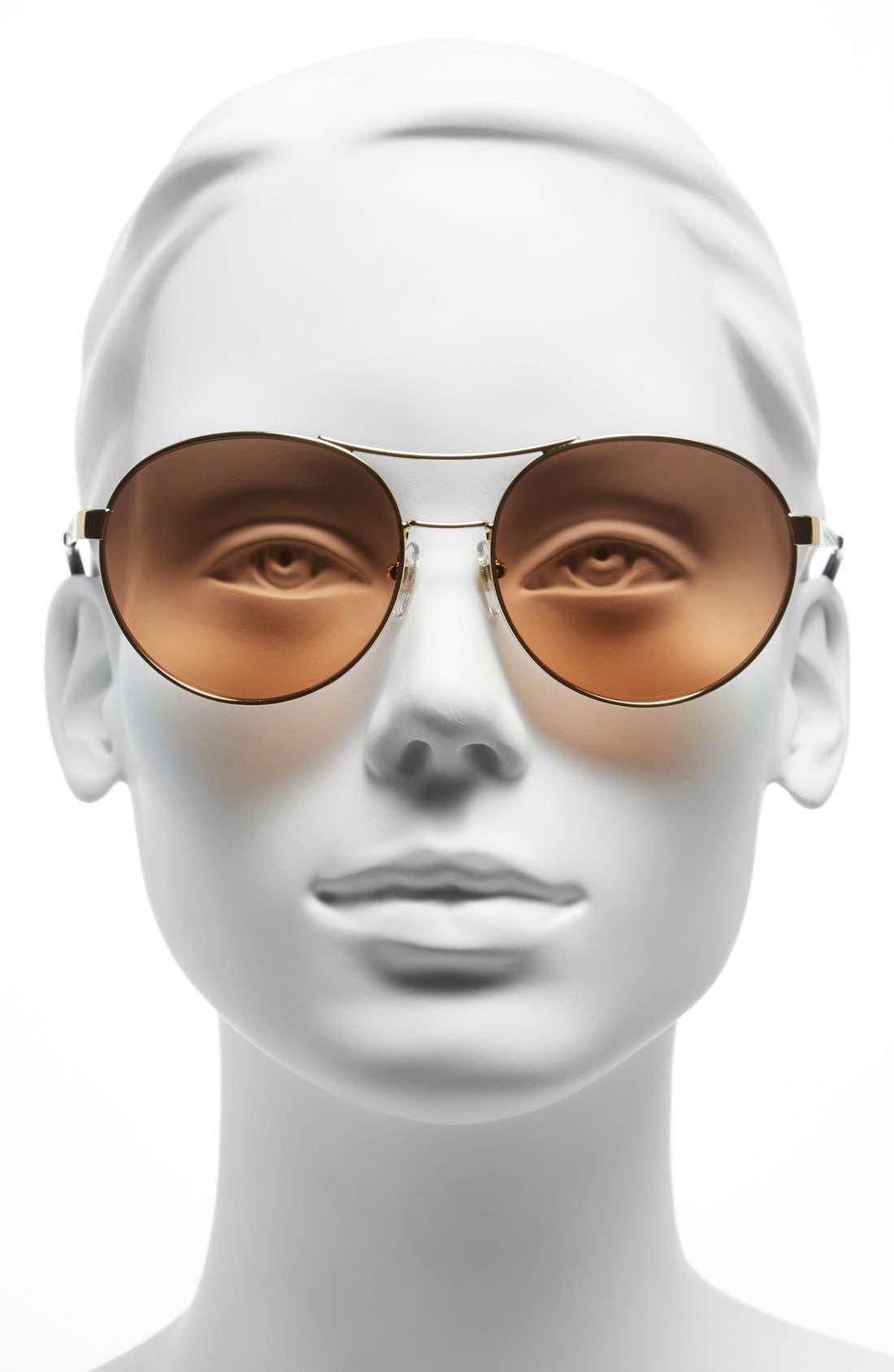 Alternate Image 2  - Tory Burch Round 56mm Sunglasses