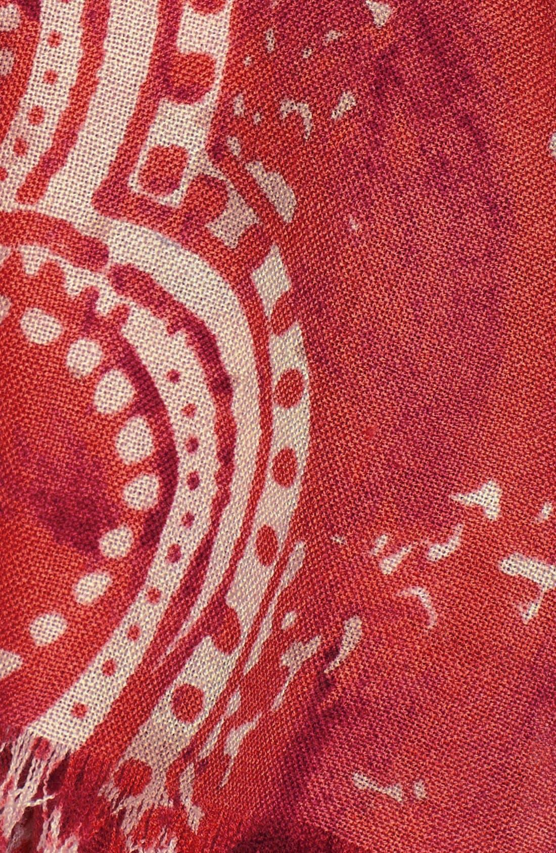 Alternate Image 2  - Nordstrom 'Baroque Floral' Wool Scarf