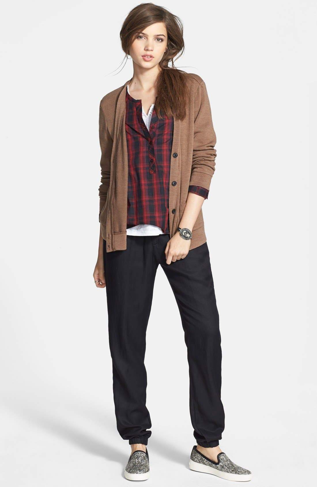 Alternate Image 6  - Ace Delivery Plaid Henley Shirt