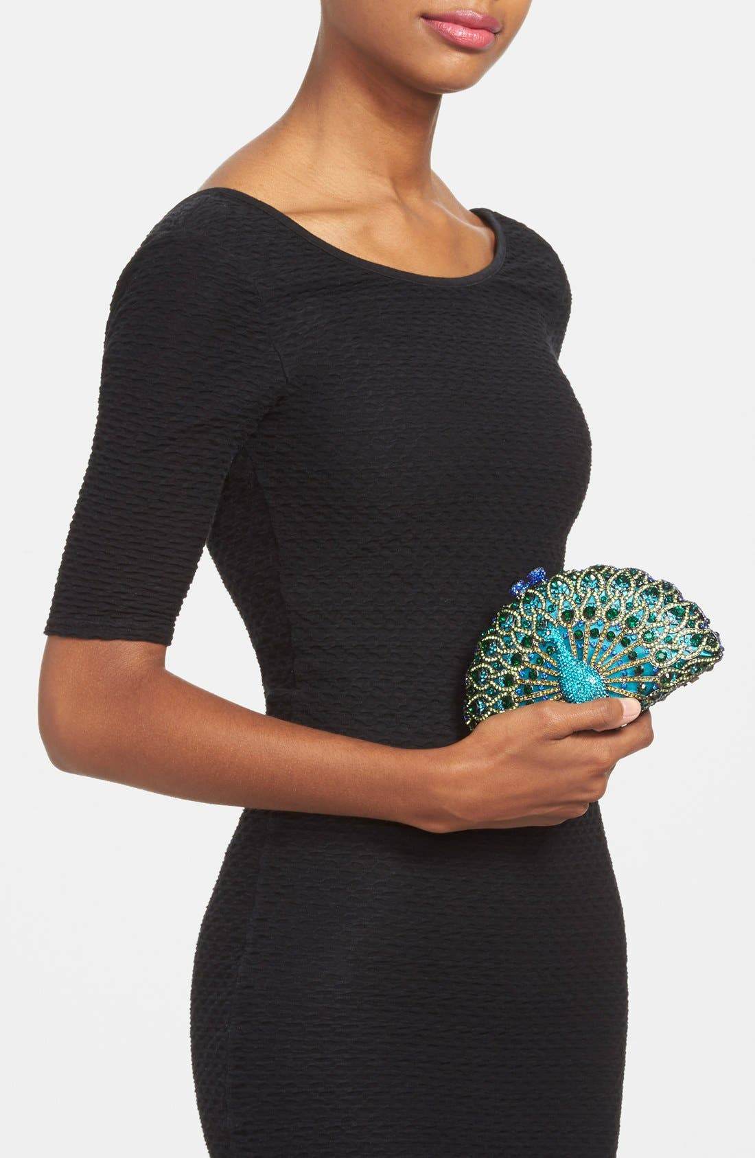 Alternate Image 2  - Natasha Couture 'Peacock' Clutch