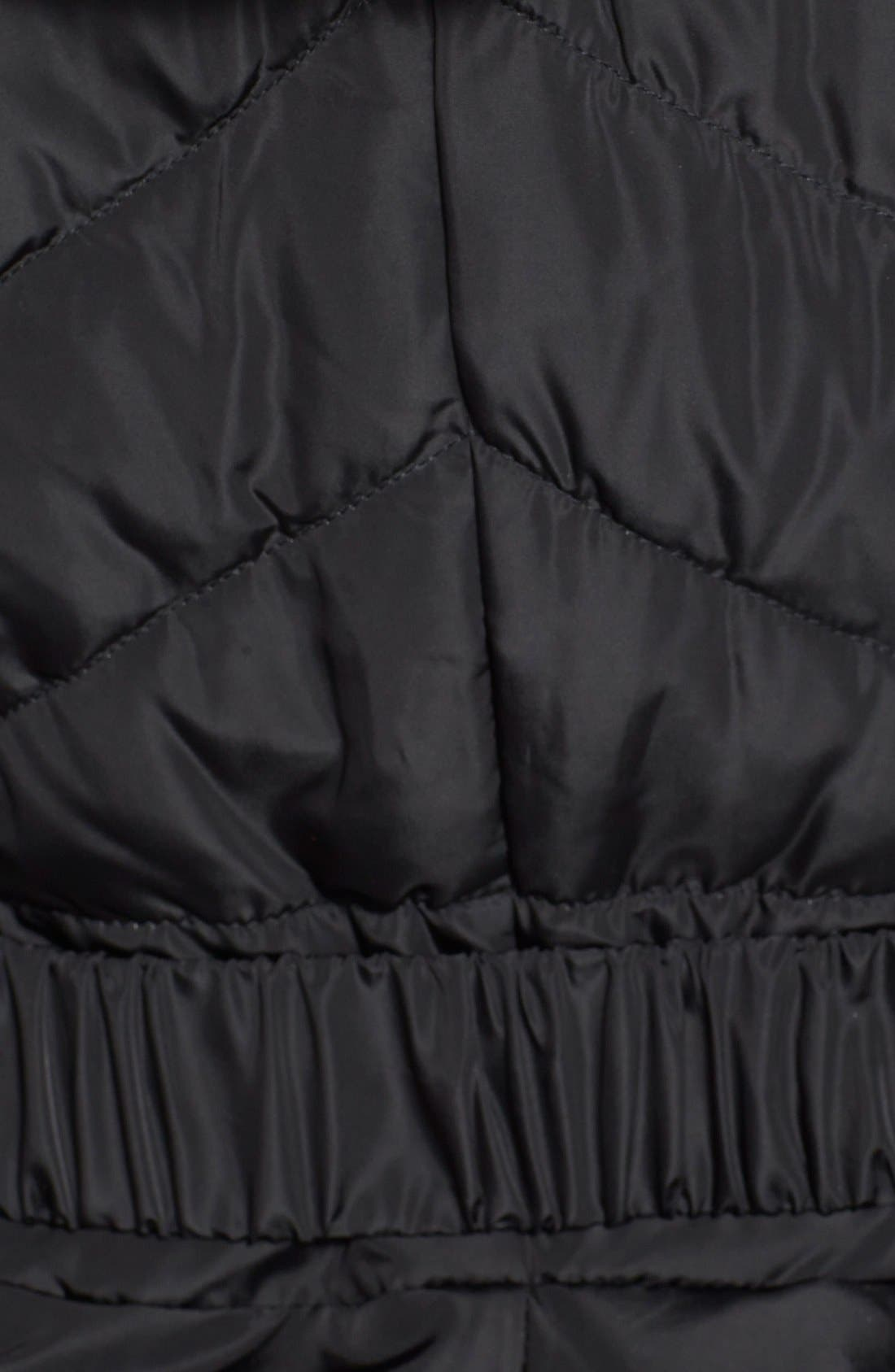 Alternate Image 3  - Via Spiga Faux Fur Trim Hooded Puffer Jacket (Online Only)