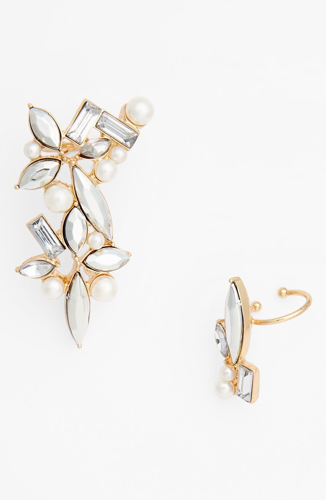 Main Image - Cara Crystal Ear Cuff & Stud Earring