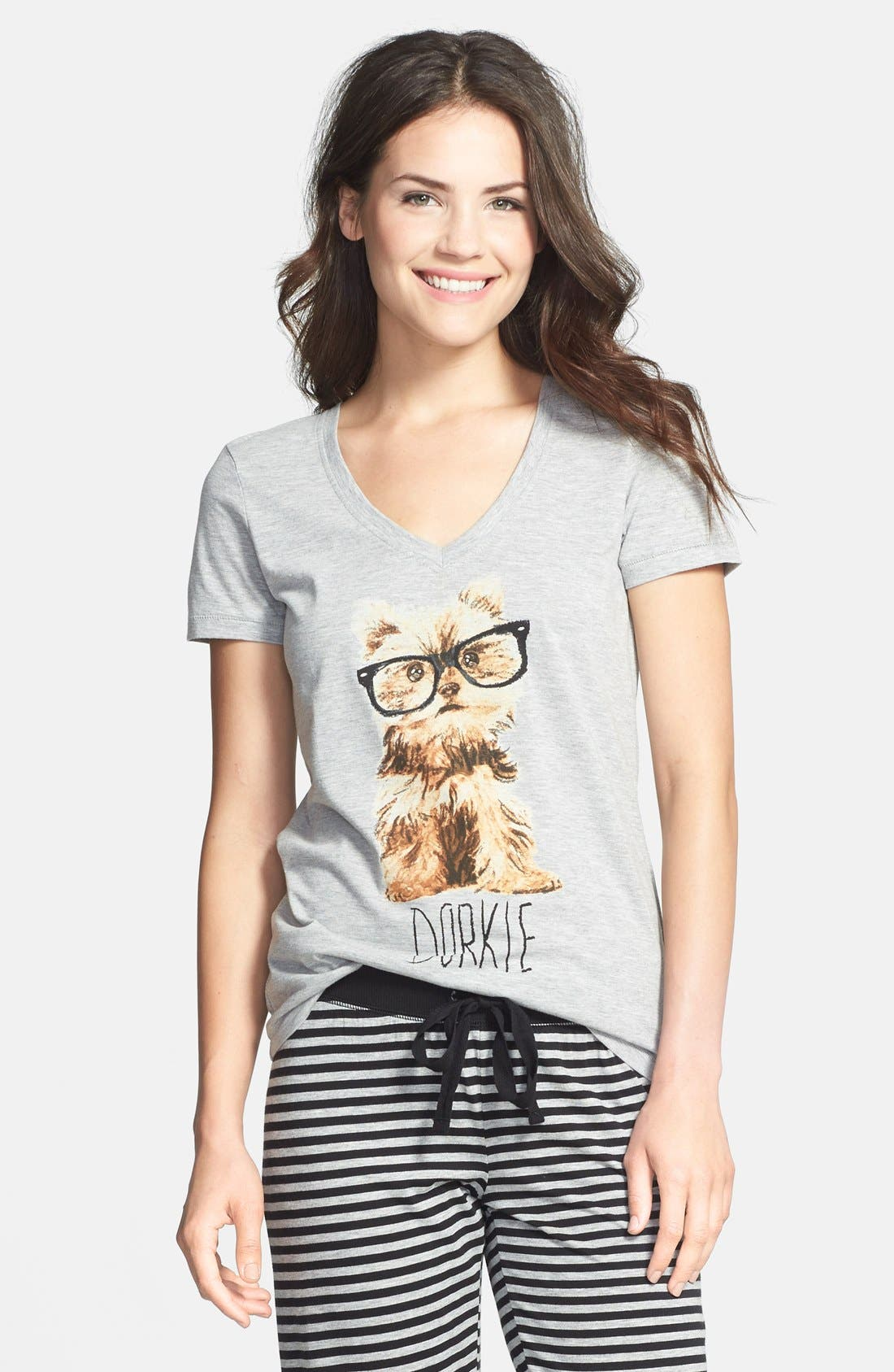 Alternate Image 1 Selected - COZY ZOE 'Quirky' Graphic V-Neck Tee