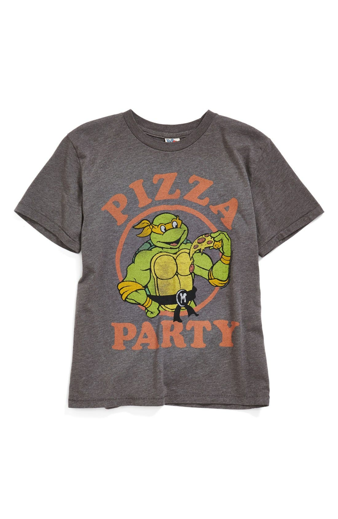 Alternate Image 1 Selected - Junk Food 'Teenage Mutant Ninja Turtles - Pizza Party' Graphic T-Shirt (Toddler Boys & Little Boys)